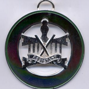 Allied grand lodge officers plain silver plate
