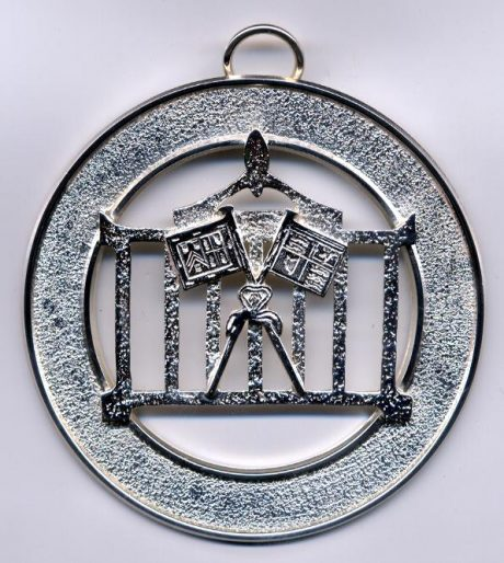 Allied officer collar jewel s/plated